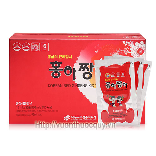 hồng sâm baby daedong korean red ginseng kid tonic