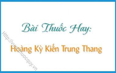 Hoàng Kỳ Kiến Trung Thang là bài thuốc hay có tác dụng hỗ trợ điều trị các chứng thể chất suy nhược, suy nhược sau khi bị ốm nặng...
