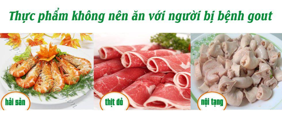 thực phẩm nên tránh bệnh gout